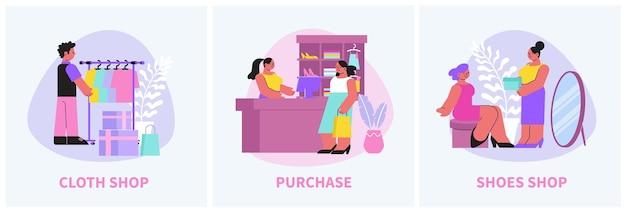 Ilustração da composição da loja