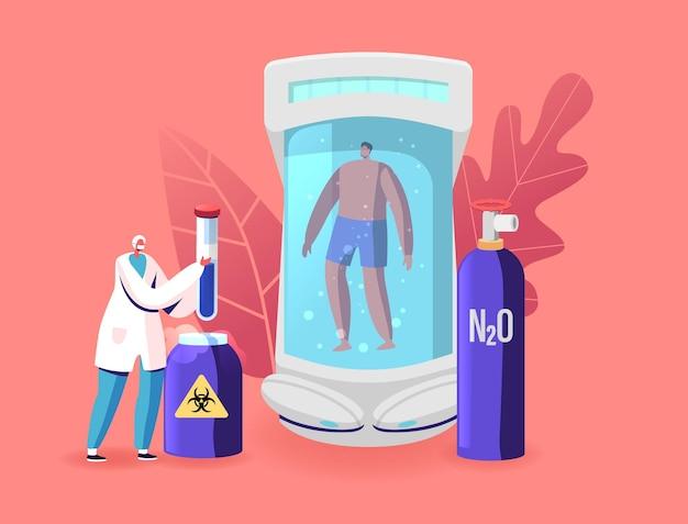 Ilustração da cryonics technology research