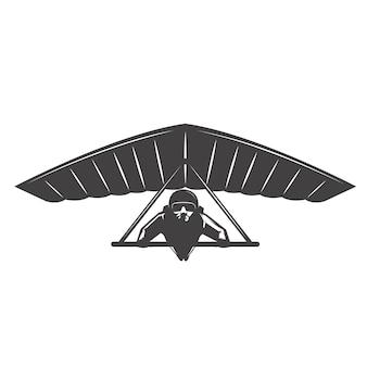 Ilustração da deltaplan em fundo branco. elemento