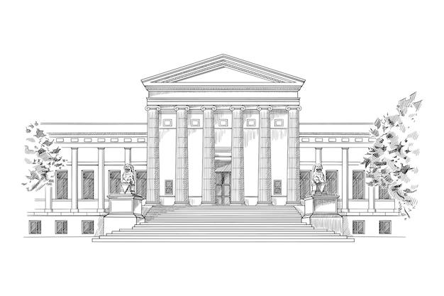 Ilustração da elegante casa do minneapolis institute of art
