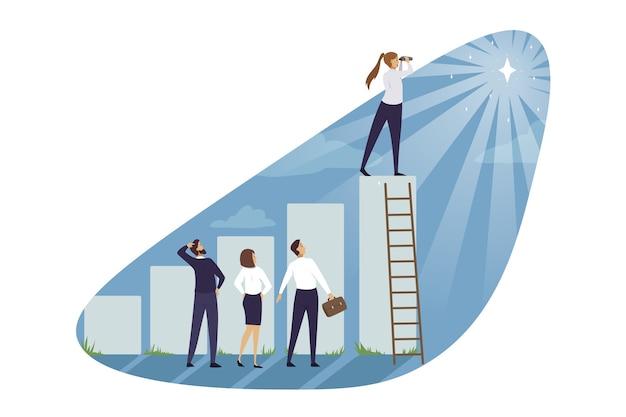 Ilustração da equipe de empresários