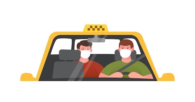 Ilustração da escola de condução. carro de treinamento, faz um exame. ilustração vetorial isolada