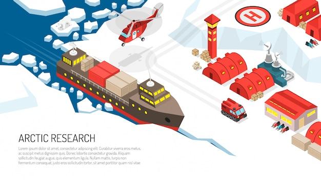 Ilustração da estação polar de pesquisa do ártico