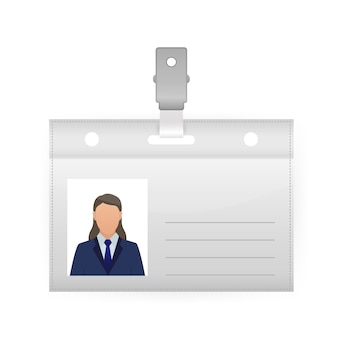 Ilustração da etiqueta de nome em fundo branco. modelo em branco. ,. ícone do vetor.