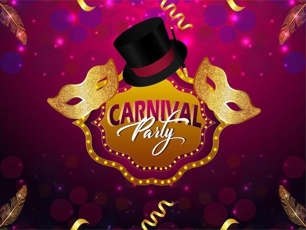 Ilustração da festa de carnaval