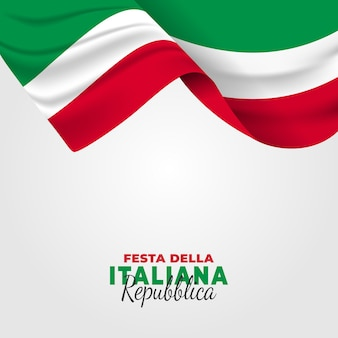 Ilustração da festa della repubblica italiana. dia da república italiana.
