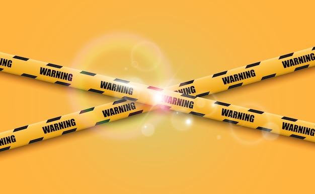 Ilustração da fita de advertência