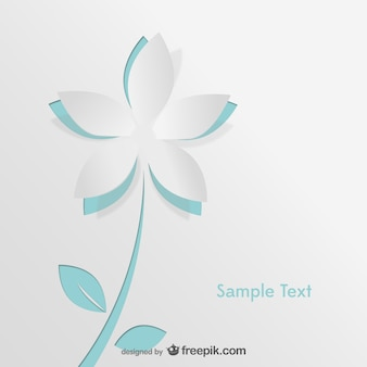 Ilustração da flor de papel vetor
