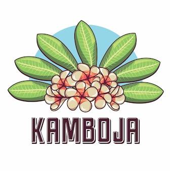 Ilustração da flor do frangipani do camboja