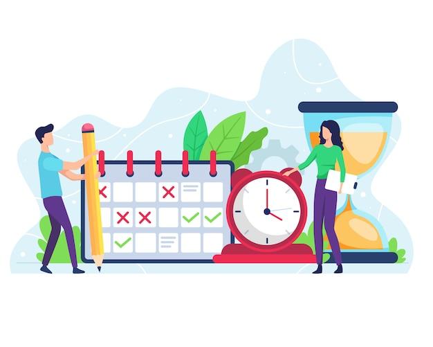 Ilustração da gestão do tempo
