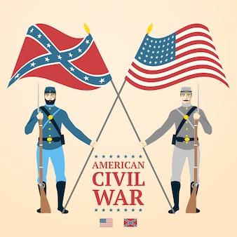Ilustração da guerra civil americana