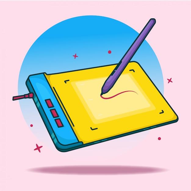 Ilustração da guia colorfull pen