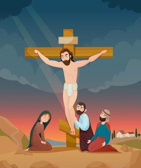 Ilustração da história da bíblia