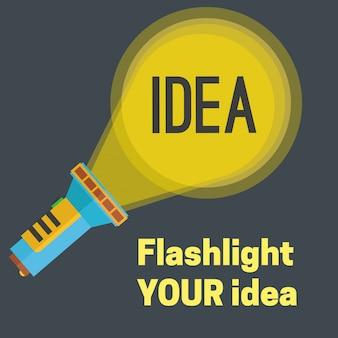 Ilustração da ideia de lanterna