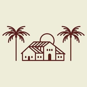 Ilustração da identidade corporativa do logotipo da villa