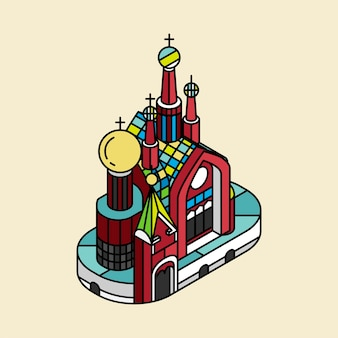 Ilustração da igreja do salvador sobre o sangue na rússia