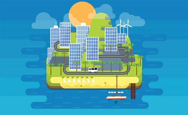 Ilustração da ilha de eco