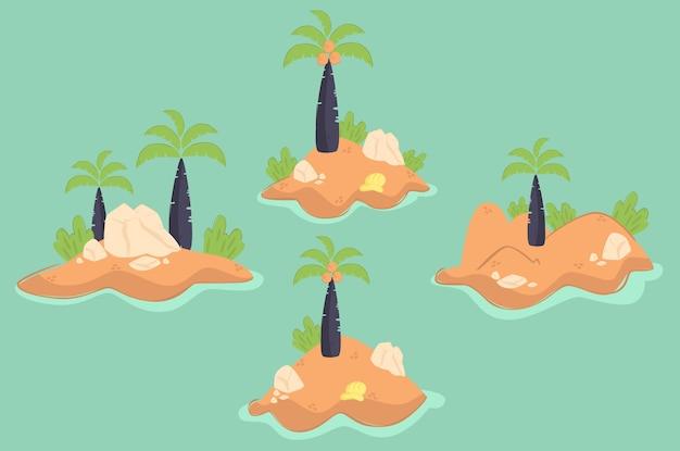 Ilustração da ilha