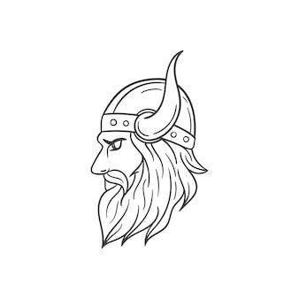 Ilustração da ilustração da cabeça viking