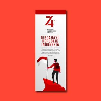 Ilustração da independência da indonésia