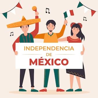 Ilustração da independência do méxico