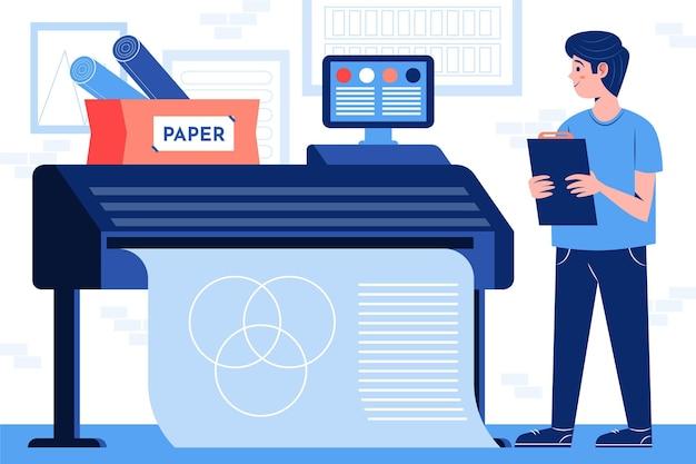 Ilustração da indústria de impressão