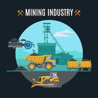 Ilustração da indústria de mineração