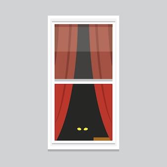 Ilustração da janela interior. vista externa ou externa da arquitetura, tema da construção e da casa.