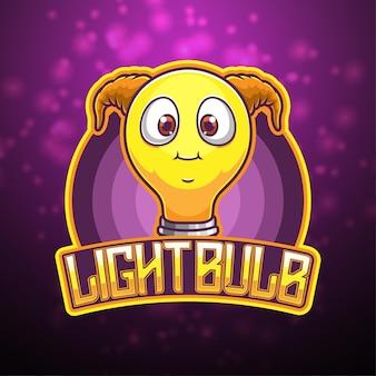 Ilustração da lâmpada do logotipo do mascote