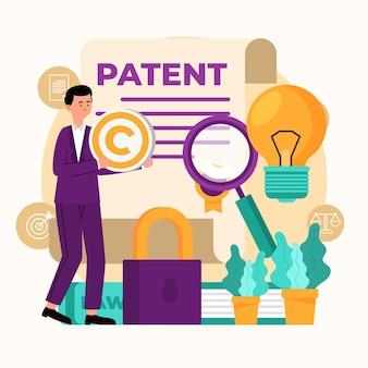 Ilustração da lei de patentes