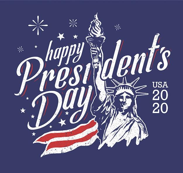 Ilustração da liberdade para o dia do presidente dos eua