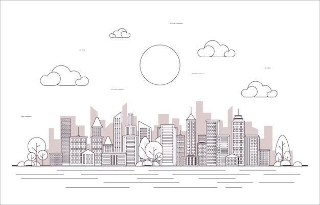 Ilustração da linha da cidade