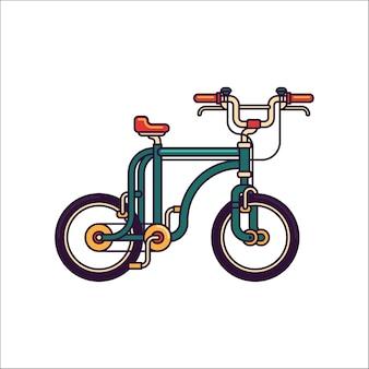 Ilustração da linha de vetor da bicicleta bmx