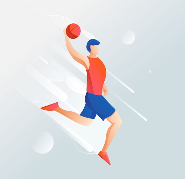 Ilustração da lista de jogadores de basquete com um design limpo e elegante