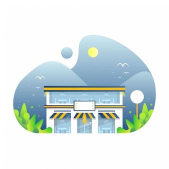 Ilustração da loja