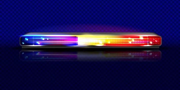 Ilustração da luz de baliza do flash da sirene de polícia.