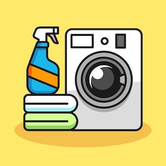 Ilustração da máquina de lavar