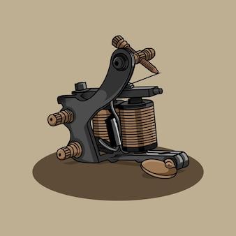 Ilustração da máquina de tatuagem