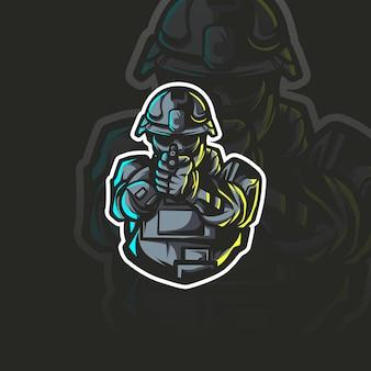 Ilustração da mascote da polícia