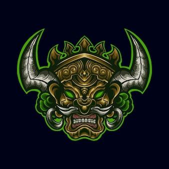 Ilustração da mascote do logotipo da arte do shaman