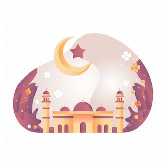 Ilustração da mesquita