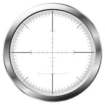 Ilustração da mira do atirador em design plano