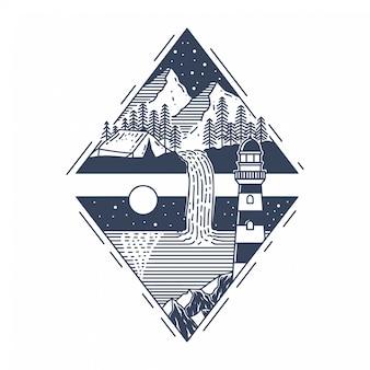 Ilustração da montanha