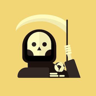 Ilustração da morte