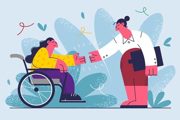 Ilustração da oferta de emprego para pessoas com deficiência