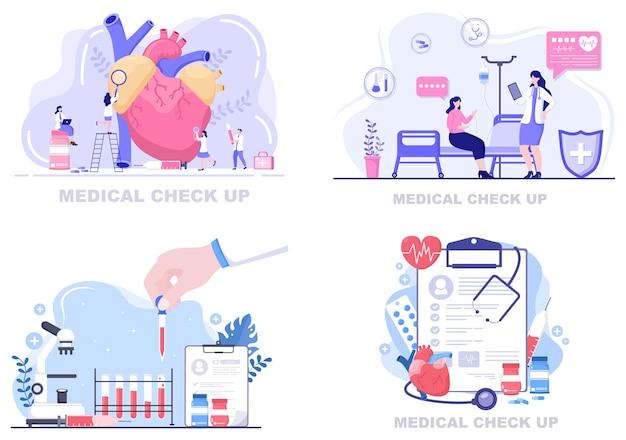 Ilustração da página de destino do plano de fundo do exame de saúde médica