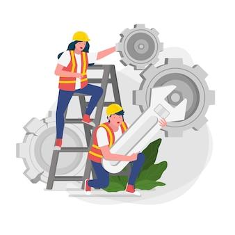 Ilustração da página de erro em construção
