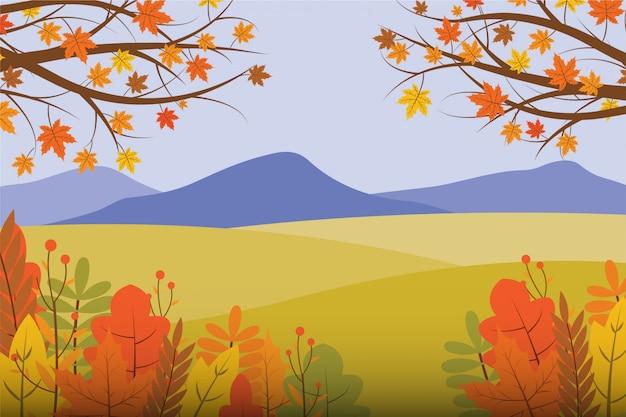 Ilustração da paisagem de outono