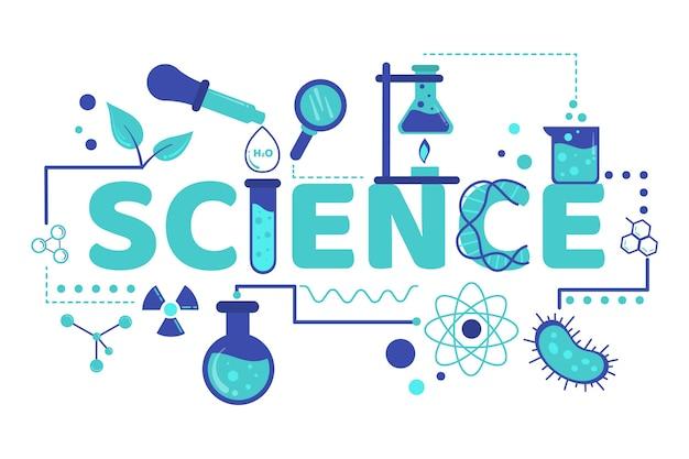 Ilustração da palavra ciência