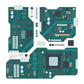 Ilustração da placa-mãe do computador
